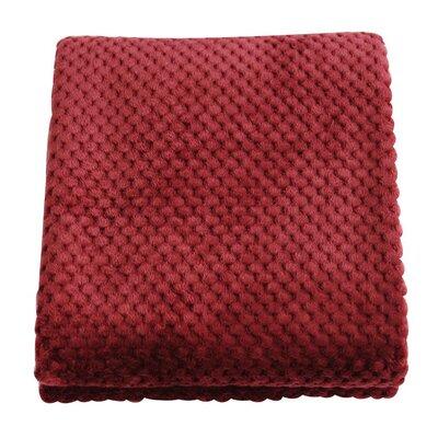 Plush Jacquard Throw Blanket Color: Fuchsia