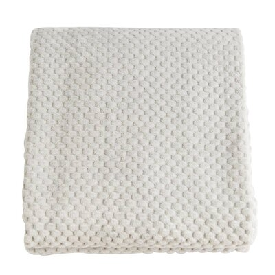 Plush Jacquard Throw Blanket Color: Gray