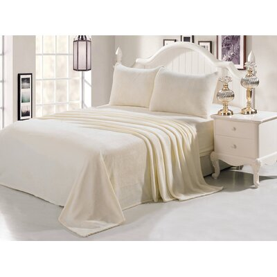 Velvet Soft Full Sheet Set Color: Cream