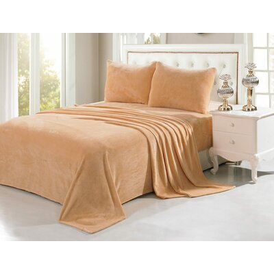 Velvet Soft Full Sheet Set Color: Camel