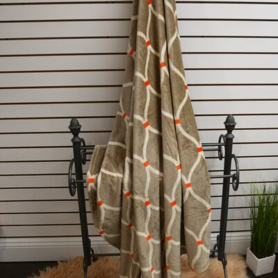 Marquise Soft Plush Throw Blanket Color: Camel