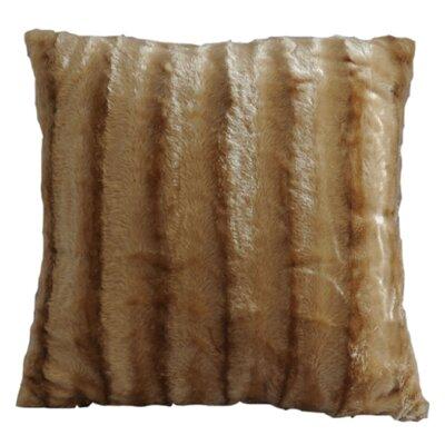 Striped Throw Pillow Color: Camel