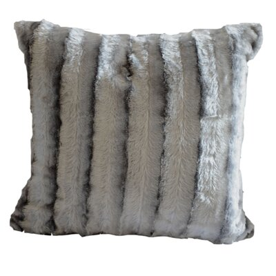 Striped Throw Pillow Color: Grey
