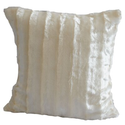 Striped Throw Pillow Color: White