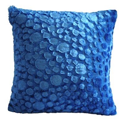 Raindrop Throw Pillow Color: Blue