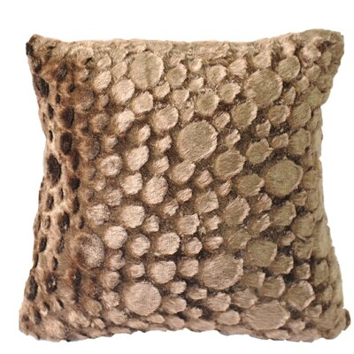 Raindrop Throw Pillow Color: Brown