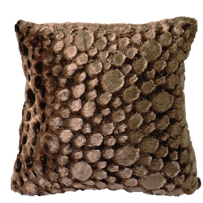 Raindrop Throw Pillow Color: Dark Coffee