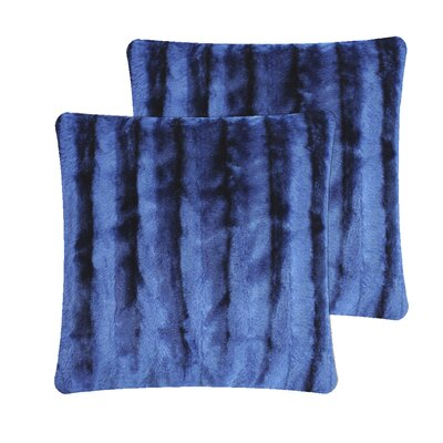 Skeens Strip Pillow Cover Color: Navy Blue