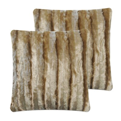 Strip Pillow Cover Color: Light Brown
