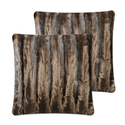 Strip Pillow Cover Color: Dark Coffee