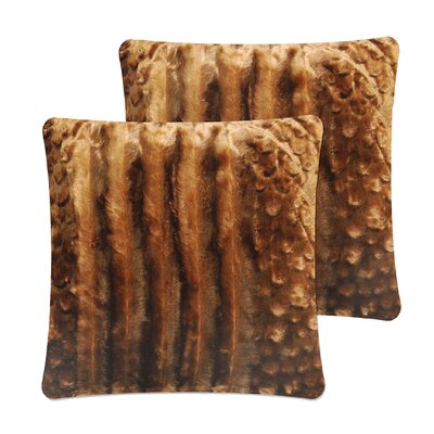 Strip Pillow Cover Color: Chocolate