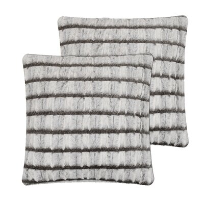 Strip Pillow Cover Color: Grey