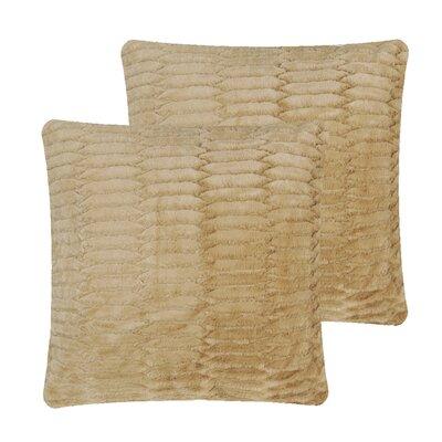 Faux Fur Pillow Cover Color: Camel
