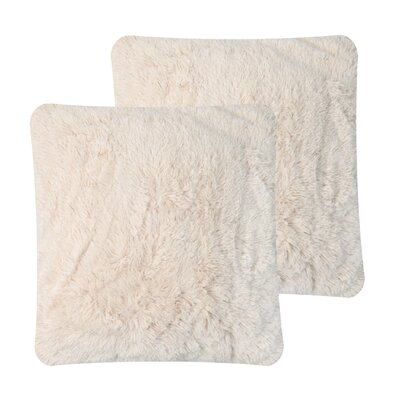 Faux Fur Pillow Cover Color: Light Camel