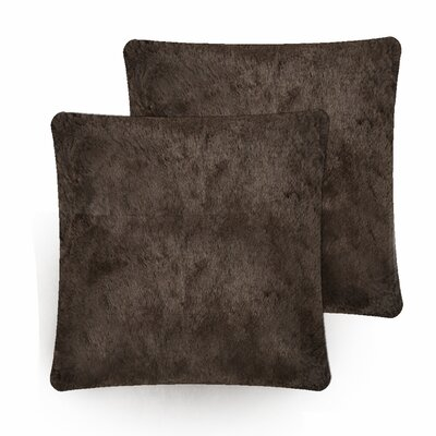 Faux Fur Pillow Cover Color: Dark Coffee