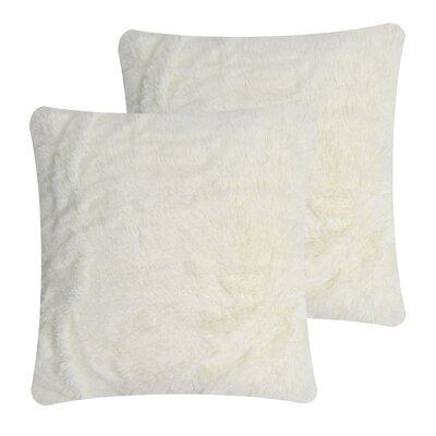 Faux Fur Pillow Cover Color: Cream
