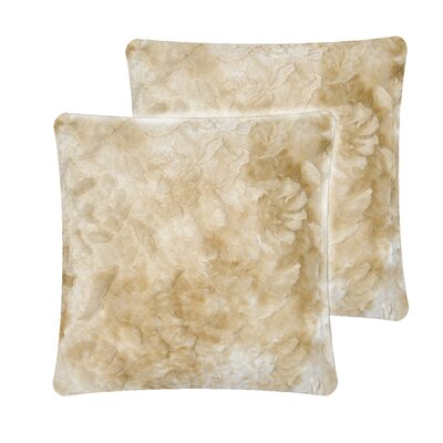 Brushed Pillow Cover Color: Camel