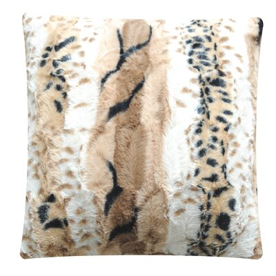 Tamayo Animal Print Throw Pillow Color: Light Brown Dapple