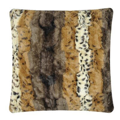 Animal Print Throw Pillow Color: Dark Brown Dapple