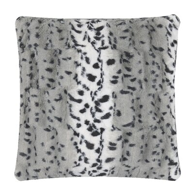 Animal Print Throw Pillow Color: Gray Dapple