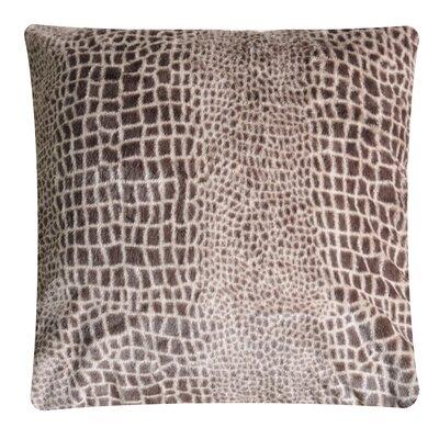Animal Print Throw Pillow Color: Crocodile