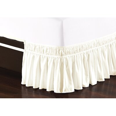 Easy Wrap Platform Free Dust Ruffle Bed Skirt Size: Twin/Full, Color: Beige