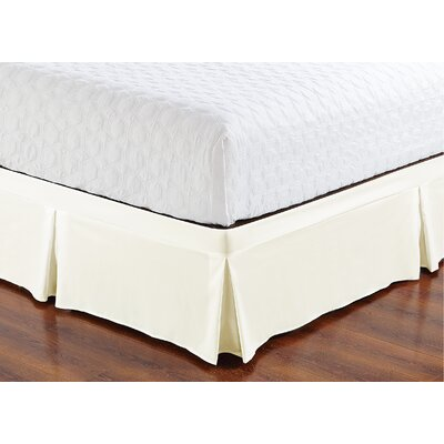 Brandenburg Wrap Around Style Tailored Bed Skirt Size: Twin, Color: Cream