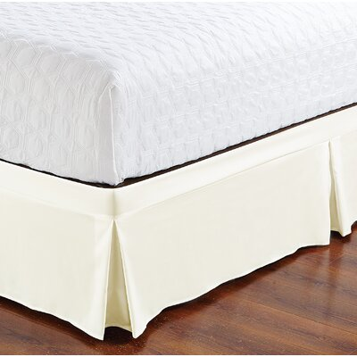 Brandenburg Wrap Around Style Tailored Bed Skirt Size: Twin, Color: White