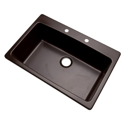 Rockland 33 x 22 Kitchen Sink Finish: Espresso, Faucet Drillings: 2 hole