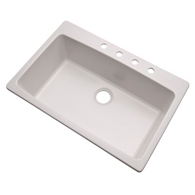 Rockland 33 x 22 Kitchen Sink Finish: Soft White, Faucet Drillings: 4 hole