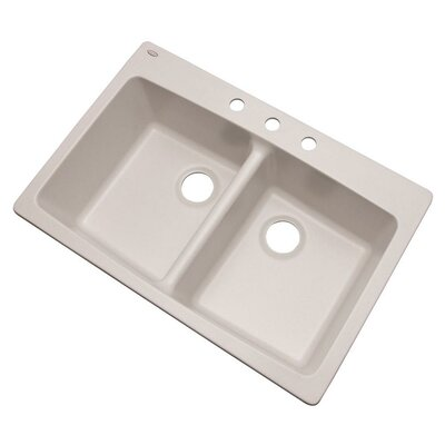 Waterbrook 33 x 22 Kitchen Sink Finish: Soft White, Faucet Drillings: 3 hole