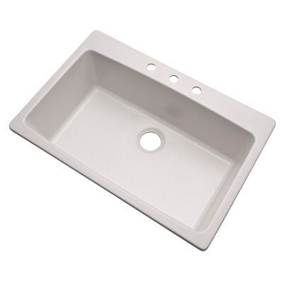 Rockland 33 x 22 Kitchen Sink Finish: Soft White, Faucet Drillings: 3 hole