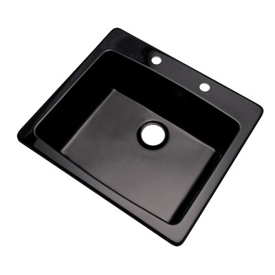Northbrook 25 x 22 Kitchen Sink Finish: Black, Faucet Drillings: 2 hole