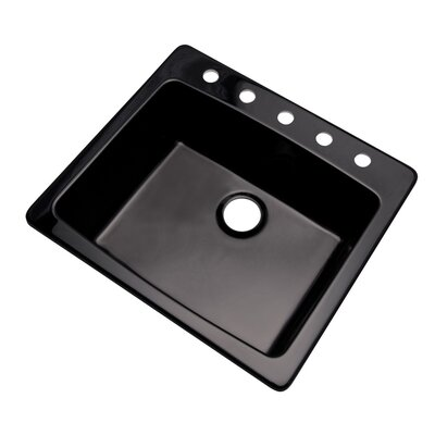 Northbrook 25 x 22 Kitchen Sink Finish: Black, Faucet Drillings: 5 hole