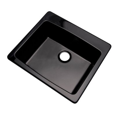 Northbrook 25 x 22 Kitchen Sink Finish: Black, Faucet Drillings: No hole
