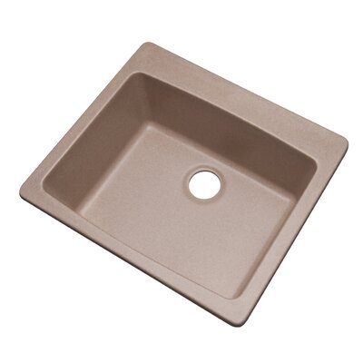 Northbrook 25 x 22 Kitchen Sink Finish: Desert Sand, Faucet Drillings: No hole