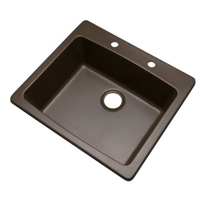 Northbrook 25 x 22 Kitchen Sink Finish: Mocha, Faucet Drillings: 2 hole