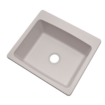 Northbrook 25 x 22 Kitchen Sink Finish: Soft White, Faucet Drillings: No hole