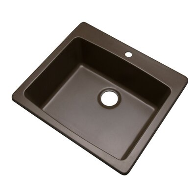 Northbrook 25 x 22 Kitchen Sink Finish: Mocha, Faucet Drillings: 1 hole