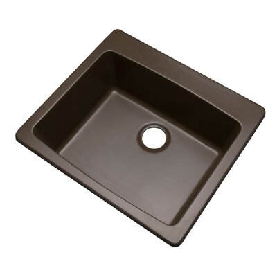 Northbrook 25 x 22 Kitchen Sink Finish: Mocha, Faucet Drillings: No hole