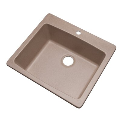 Northbrook 25 x 22 Kitchen Sink Finish: Desert Sand, Faucet Drillings: 1 hole