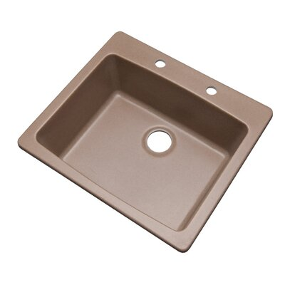Northbrook 25 x 22 Kitchen Sink Finish: Natural, Faucet Drillings: 2 hole