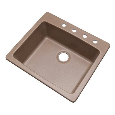 Northbrook 25 x 22 Kitchen Sink Finish: Natural, Faucet Drillings: 4 hole