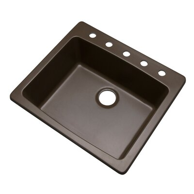Northbrook 25 x 22 Kitchen Sink Finish: Mocha, Faucet Drillings: 5 hole