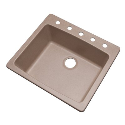 Northbrook 25 x 22 Kitchen Sink Finish: Desert Sand, Faucet Drillings: 5 hole