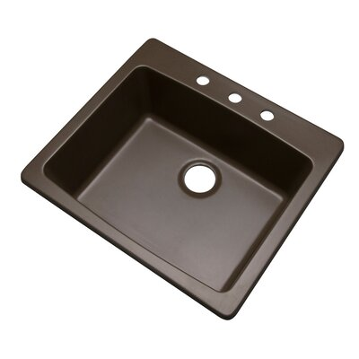 Northbrook 25 x 22 Kitchen Sink Finish: Mocha, Faucet Drillings: 3 hole