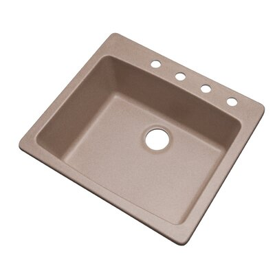 Northbrook 25 x 22 Kitchen Sink Finish: Desert Sand, Faucet Drillings: 4 hole