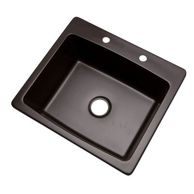 Northbrook 25 x 22 Kitchen Sink Finish: Espresso, Faucet Drillings: 2 hole