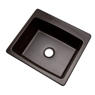 Northbrook 25 x 22 Kitchen Sink Finish: Espresso, Faucet Drillings: No hole