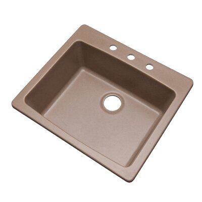 Northbrook 25 x 22 Kitchen Sink Finish: Natural, Faucet Drillings: 3 hole